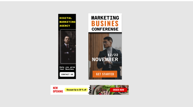 Баннер на сайт – работа в портфолио фрилансера