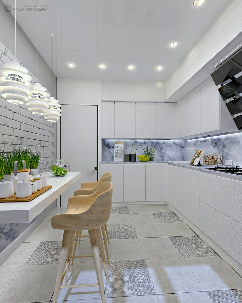 Интерьер кухни – work in freelancer's portfolio