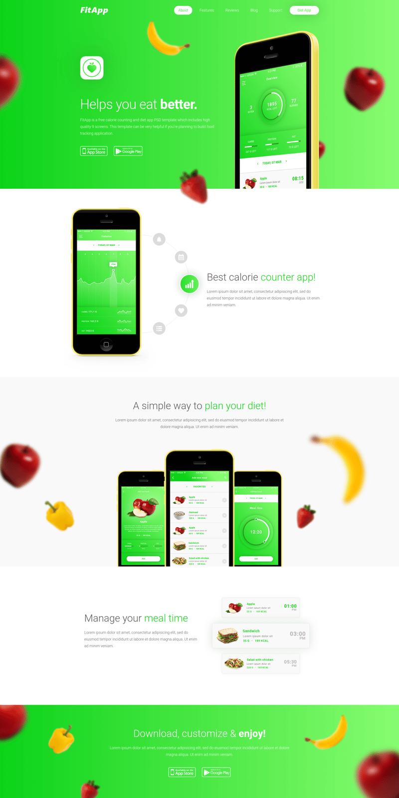 FitApp – работа в портфолио фрилансера