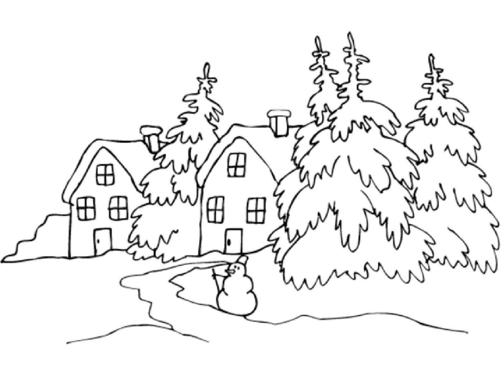 Как нарисовать красивую картинку карандашом легко о зиме, для