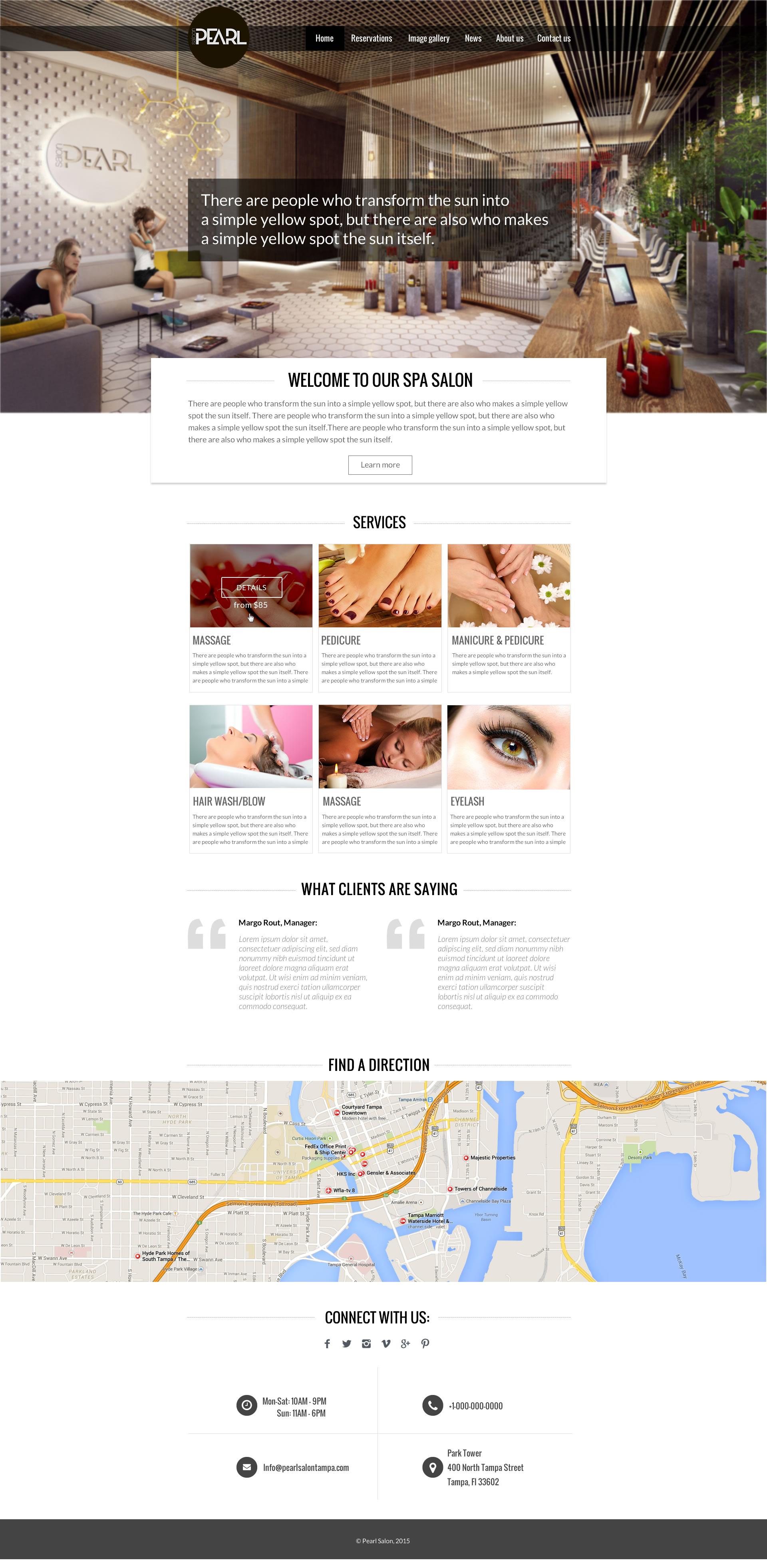 Красивый дизайн сайта салона красоты