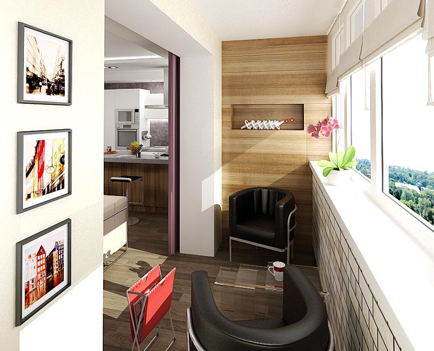 Студия с балконом интерьер. - остекление - каталог статей - .
