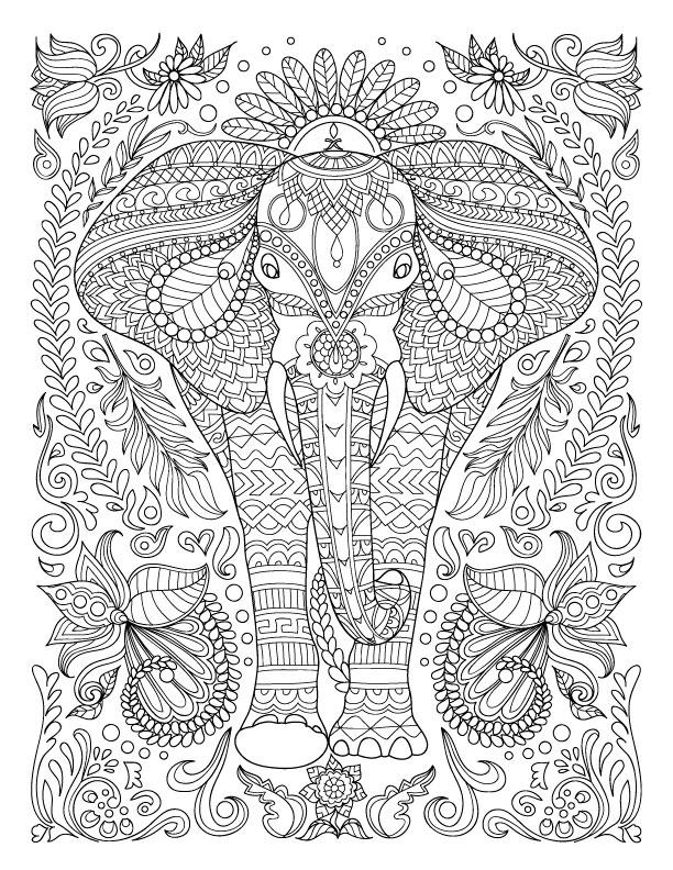 рисунки слон координатные