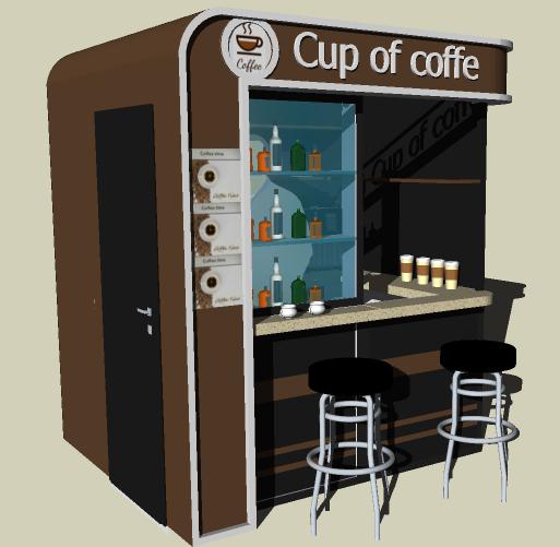 Дизайн мини кофейни