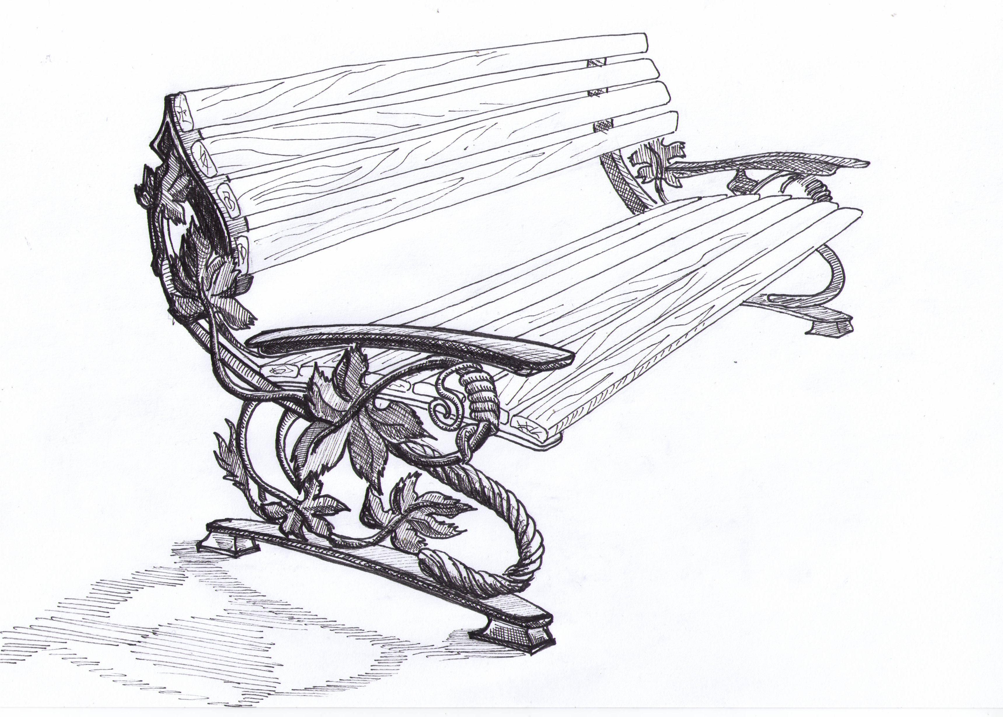 Рисунки со скамейками