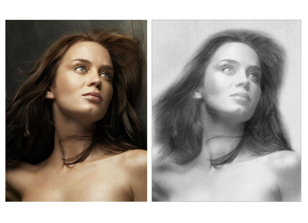 Онлайн обработка фото в карандашный рисунок