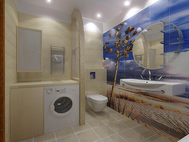 Дизайн ванной комнаты 5 кв м с туалетом и стиральной машиной и душевой