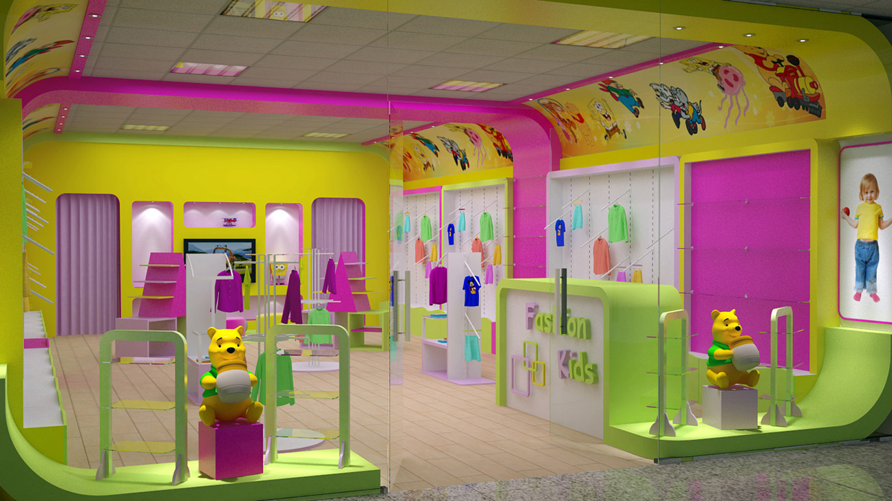 Дизайны магазин детской одежды