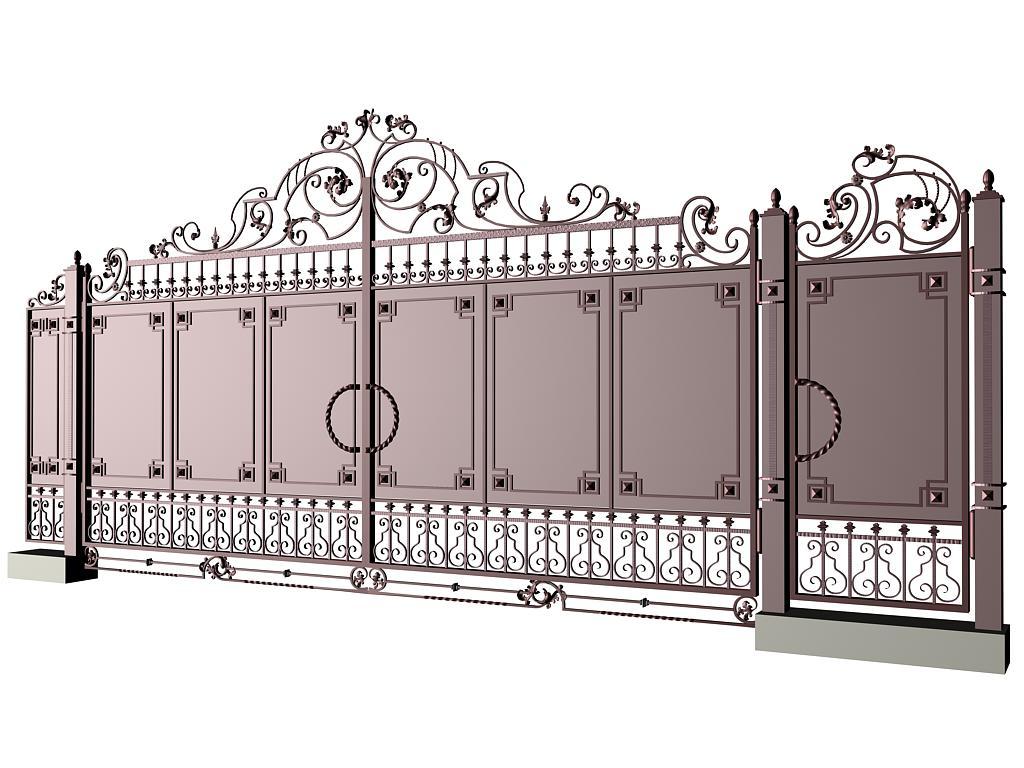 эскизы кованных ворот:
