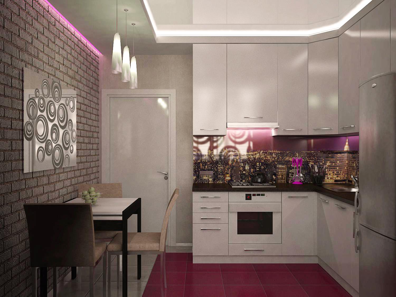 Дизайн кухни соединения с лоджией..