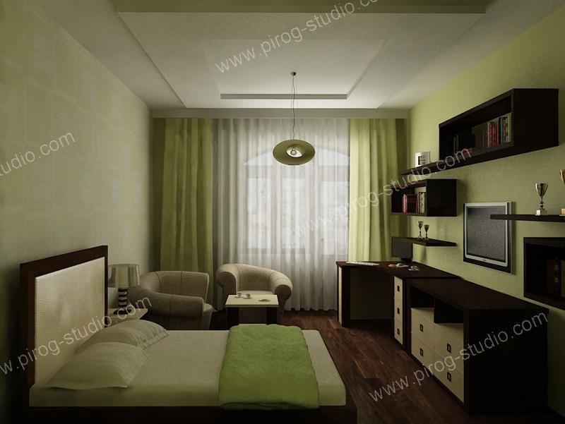 Жилая комната 12 кв.м дизайн