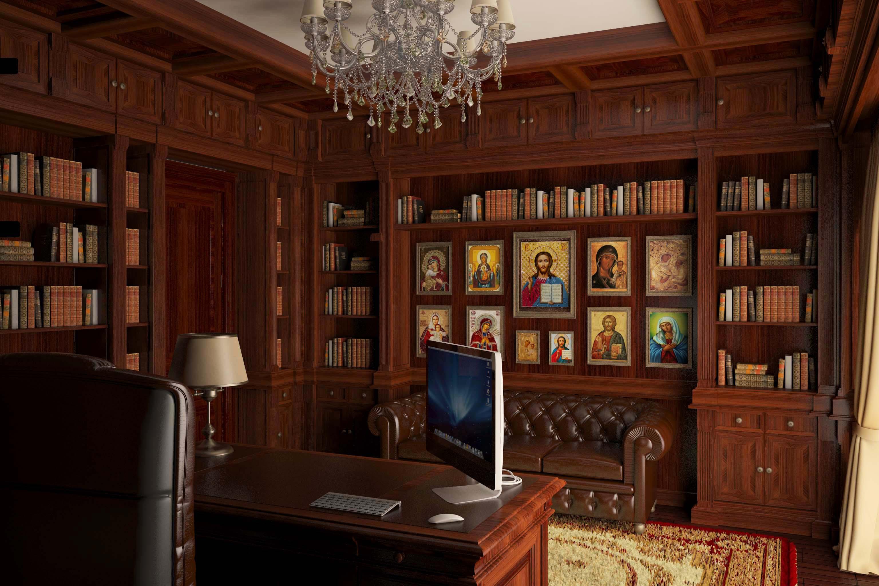 Интерьер библиотека фото