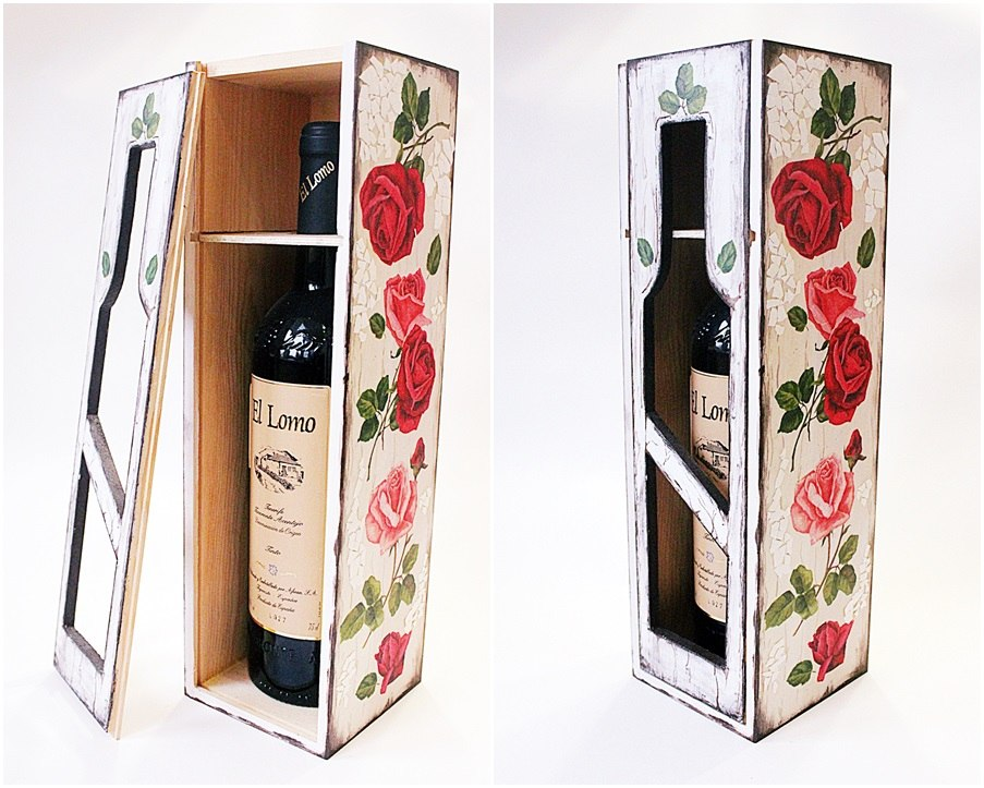 недорогих декупаж коробок для вина усилителя Вега
