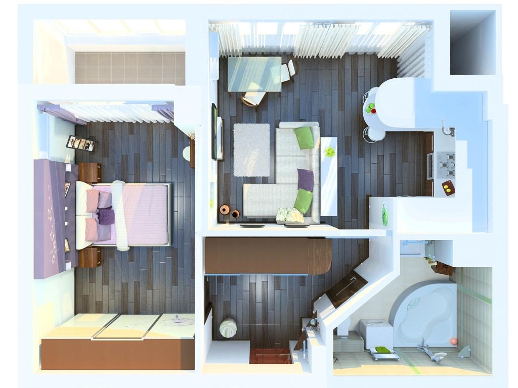 Дизайн комнаты 30 м