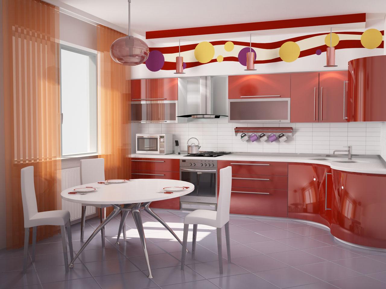 3d дизайн кухни фото