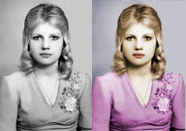 преобразовать черно белое фото в цветное в фотошоп