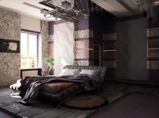 Дизайн и визуализация современной спальни