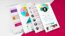 Дизайн для приложения по мотивации и развитию