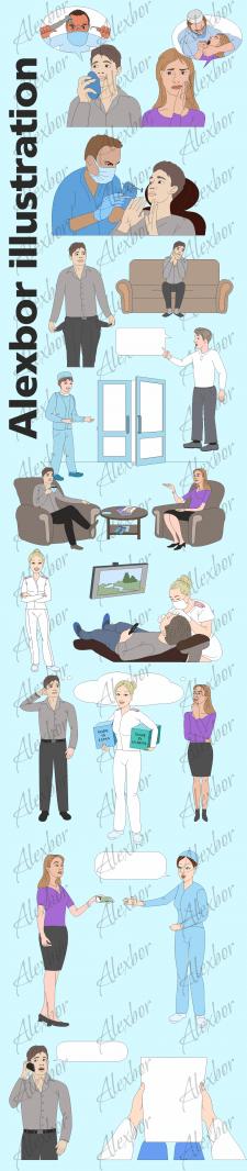 Векторные иллюстрации для видео