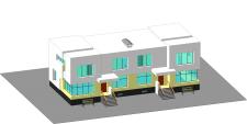 Упрощенная 3d-модель дома