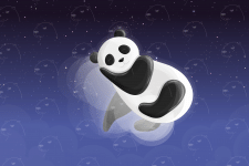 Cute panda illustration