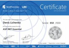 Certificate | ASP.NET Essential