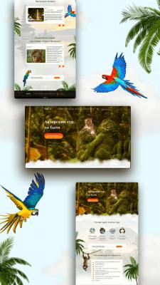 "Дизайн сайта ""Авторский тур на Бали"""