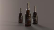 продуктовая 3D визуализация (шампанское)
