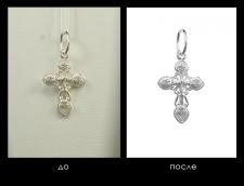 Обработка фото украшений из серебра