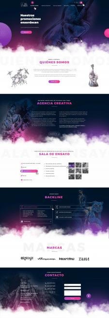 Разработка дизайна сайта для La Sordera