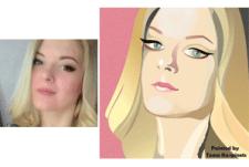 портрет поп-арт