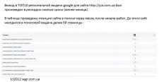 В ТОП Google за 25 дней !