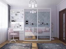 Дизайн интерьера детской спальни для двух девочек