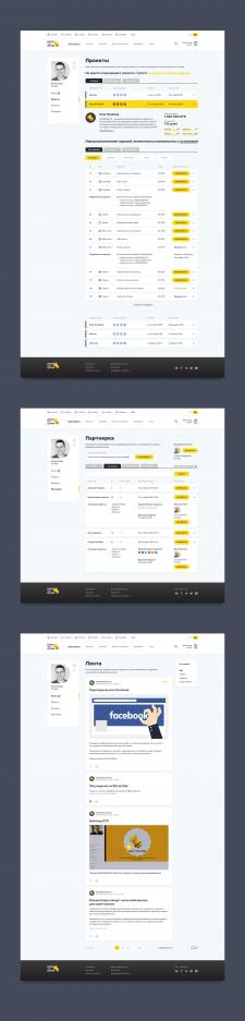 Дизайн интерфейса сайт с набором микрозаданий