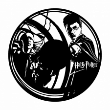 """Часы из винила """"Гарри Поттер"""""""
