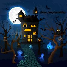 Векторная иллюстрация замка Дракулы