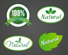 Логотип-стикер для натуральных продуктов