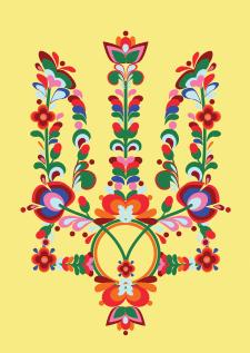 принт на футболку( украинская вышивка)