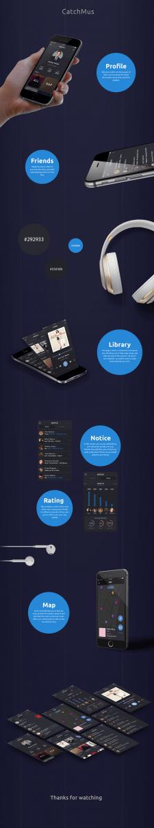 Дизайн моб. приложения | CatchMu