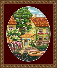 "Схема для вышивки крестом ""Home Sweet Home"""