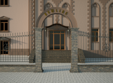 Фасад развлекательного комплекса