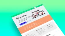 Страница захвата для онлайн курса по веб-дизайну