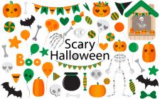 Векторные Хэллоуинские иллюстрации