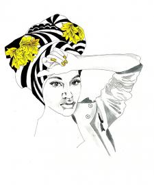 Fashion illustration, проект оформлення бьюті-бару
