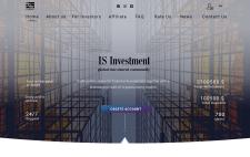 Дизайн главной страницы сайта инвестиций
