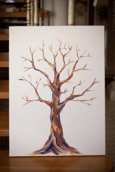 Дерево гуашь