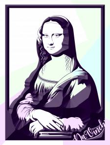 Мона лиза (векторизоция)