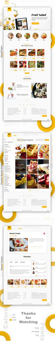 Recipes - дизайн сайта