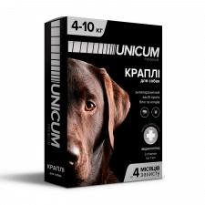 Упаковка капель для собак