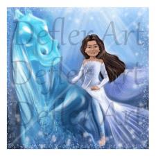 Dzena -иллюстрация/цифровой портрет по фото Disney